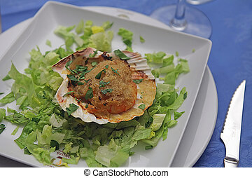 Scallop - assorted appetizer served in a celebration party