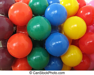 Color balls - Colorfull plastic toys background in close...