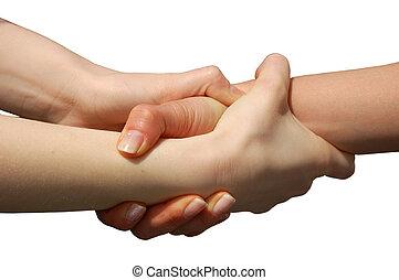 ajudando, mãos