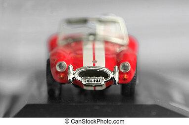 Miniature Sports Car - Close up shot of miniature sports car