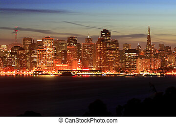 Night San Francisco, Skyl - Night time, San Francisco...