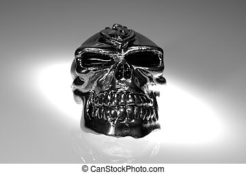 Chrome Skull - Photo of a Chrome Silver SKull - Witchcraft...