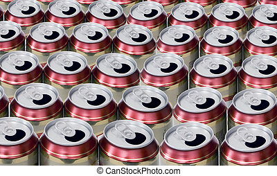beer cans - empty beer cans
