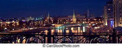 Kremlin panorama, night view