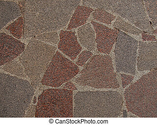 Stone surface - Textured red, brawn and beige color pattern...