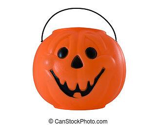 Halloween Pumpkin - Photo of a halloween pumpkin pail...