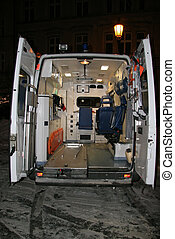 Open ambulance - Ambulance with open door