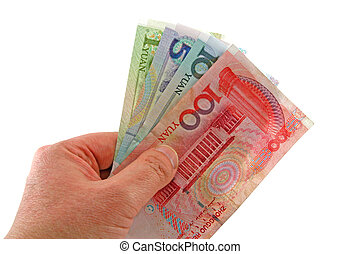CHINESE MONEY - The chinese currency being revaluing