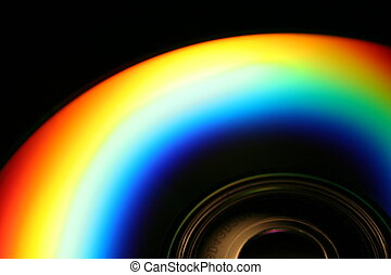 Rainbow CD - an image of a rainbo on a compact disk
