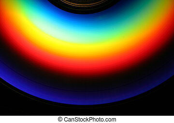 Rainbow CD - an image of a rainbow on a cd