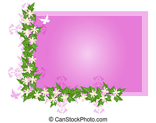 Flowers and Ivy - Flower background with tiger lilies, ivy...