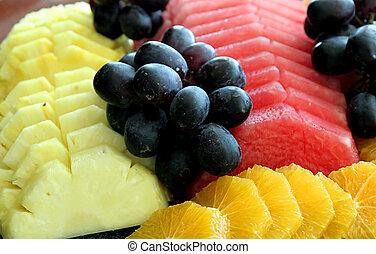 Melones, uvas