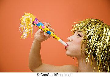 carnival - Holiday: beautiful girl having fun at a carnival...