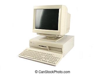 desktop computer - isolated old desktop computer