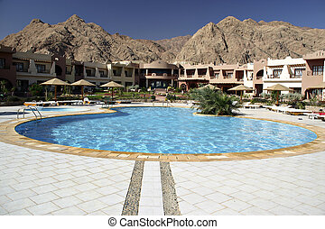Hotel garden - A luxury hotel in Dahab, Egypt