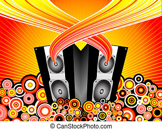 Music burst - Funky music background