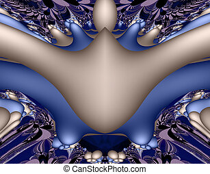 Stock image of Alien Fractal Art - From SCI-FI series Alien...