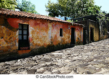 Colonia, Uruguay - Street of an old Portugese colony in...
