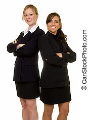 Business partners - Two attractive confident business women...