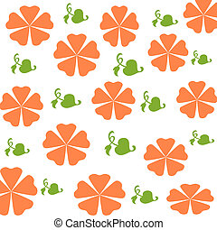 orange flowers wrap - orange flowers and leaves scattered on...