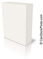 Blank box - blank box over white background- computer...
