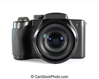 Camera - digital photo camera on white background