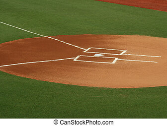 Home Plate - digital photo of home plate, batter\'s box, and...