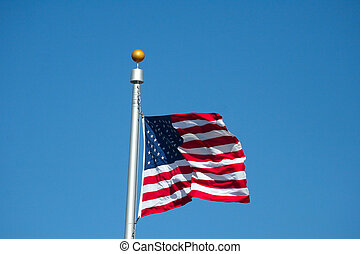 Red, White and Blue - The United States of America Flag...