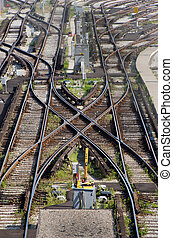 Subway yard track - Crossover in TTC Greenwood subway yard