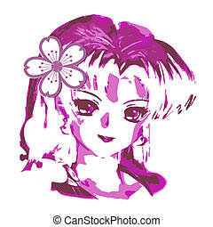 Anime Japanese Girl - Graphic designed anime japanese girl...