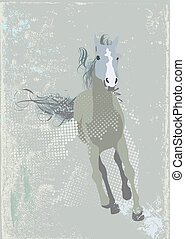 running horse - Illustration of a stylized running horse...