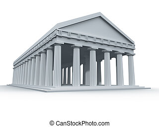 Ancient Greek Temple - A computer generated ancient Greek...