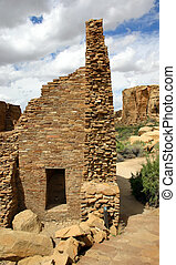 Anasazi ruins - Ruins of Native American structures in Chaco...
