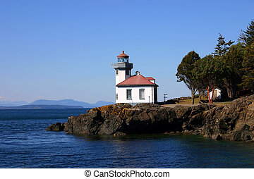 San Juan lighthouse - Lightouse in San Juan Island, Orcas...