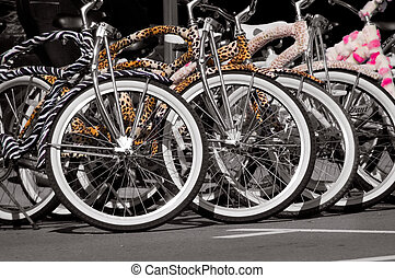 Colorful Bicycles 3 - A group of very colorful rental...