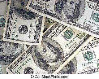 Cash - Pile of Cash. Only 100 Dollar Bills.