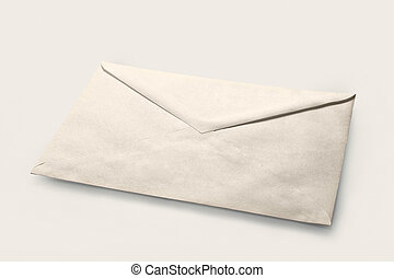 Simple white cheap envelope with unknown contents
