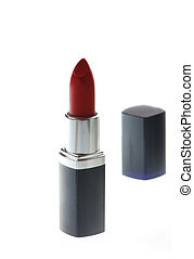 red ipstick - red  lipstick isolated on withe