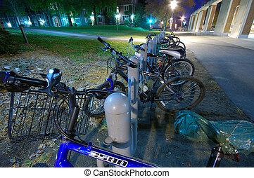 A Campus at night