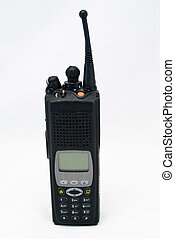 Police Radio 02 - A police radio straight on, isolated with...