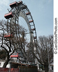 Big wheel in Vienna - a beautiful day in Vienna