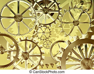 Cogs - Gears and cogs make an abstract background