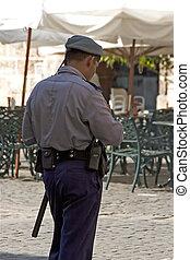 Cuban Police  - Cuban police officer in Havana