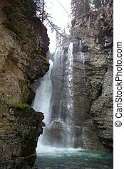 Waterfall in Johnson Canyon, Alberta