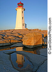 Lighthouse Icon - Peggys Cove Lighthouse, near Halifax, Nova...