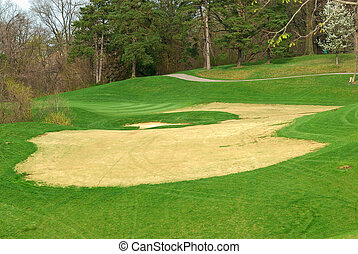Golf Course In Springtime - The Sand Trap