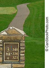 Par 4 - Golf Course In Springtime - Par 4