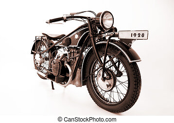 motorcycle - old motorbikes 1928 isolated on the white...