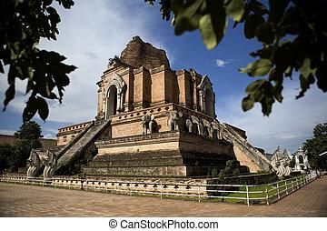 Wat Phra Singh - Wat phra singh. Ancient temple in Chiang...