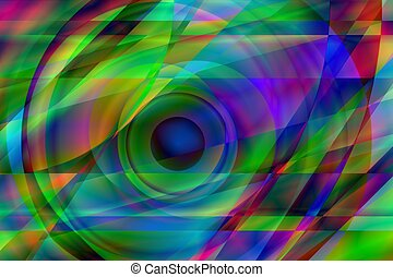 Prismatic Eye - An Abstract Composition Suggests an Eyeball...